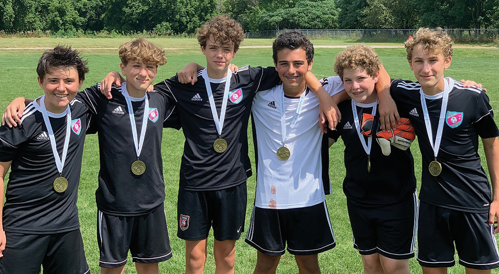 Team Austin U14 Boys Soccer won gold at the 2019 JCC Maccabi Games. Credit: Aron Waisman