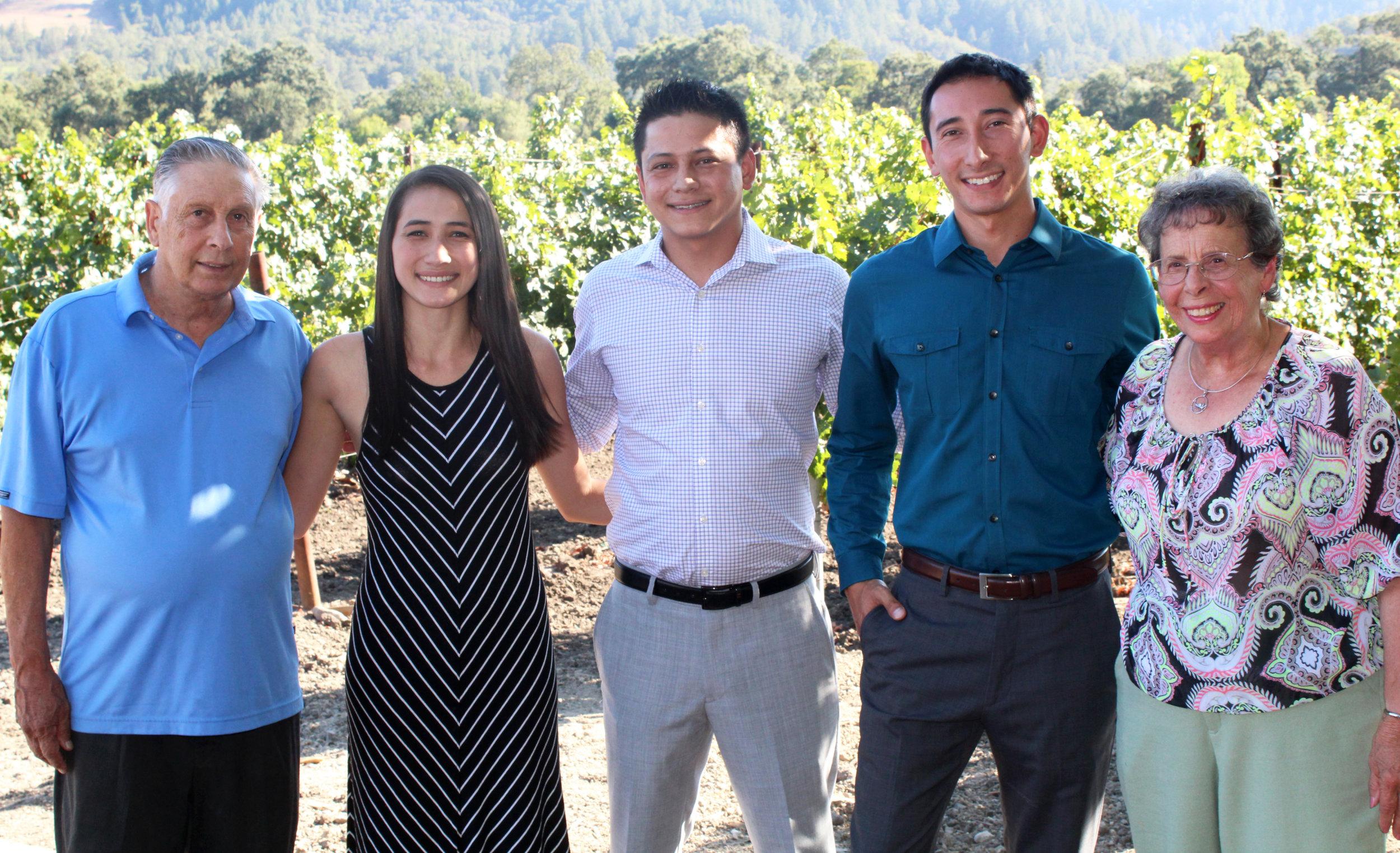 Emil, Elaine, Mario, Emilio, and (Aunt) Frances Tedeschi
