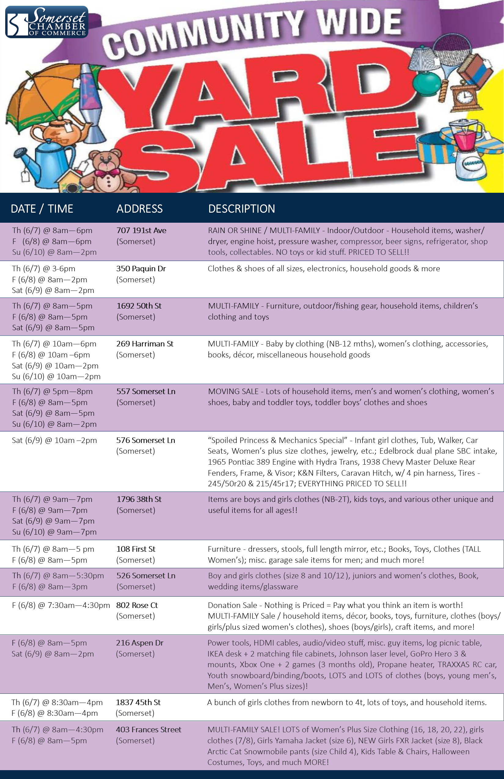 2018 Garage Sale - List of Locations - POSTER.png