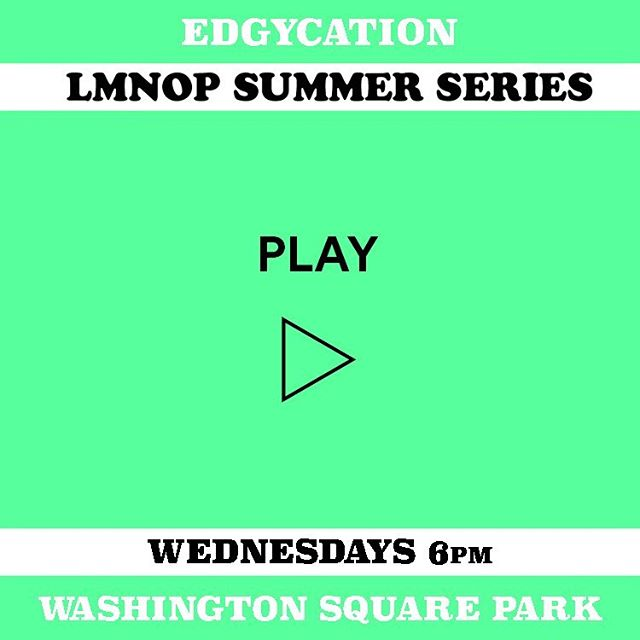 LMNOPlay is a free communal activity to stretch the body, loosen the mind, and get you thinking outside the box. Join us at 6pm at Washington Square Park in the grass area on the left side of the arch.  See more info about our summer series from link in our bio. #LMNOP #edgycation #mindfulness #nyc