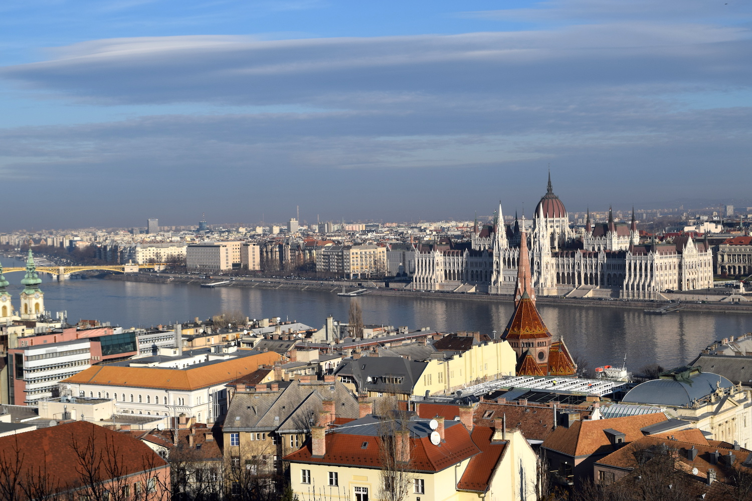 View of Hungary's parliament house from Fisherman's Bastion