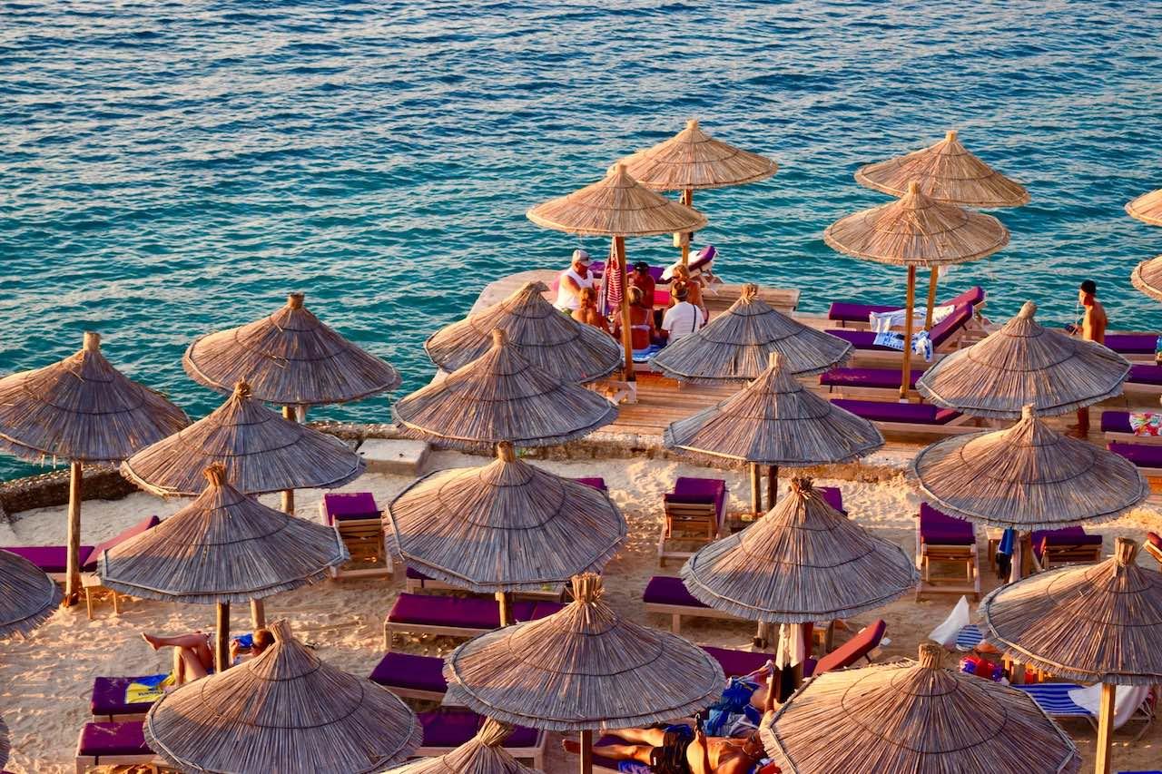 ksamil beach, albania