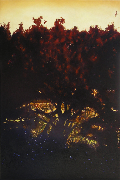"PLANT (2010) oil on canvas, 24"" x 36"" Private collection"