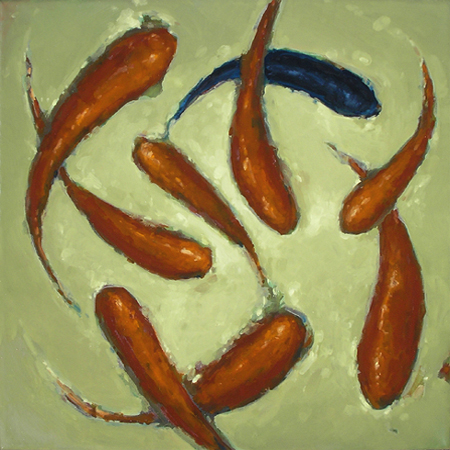 "TALISMAN 7 (2009) oil on canvas, 24"" x 24"" Private collection"