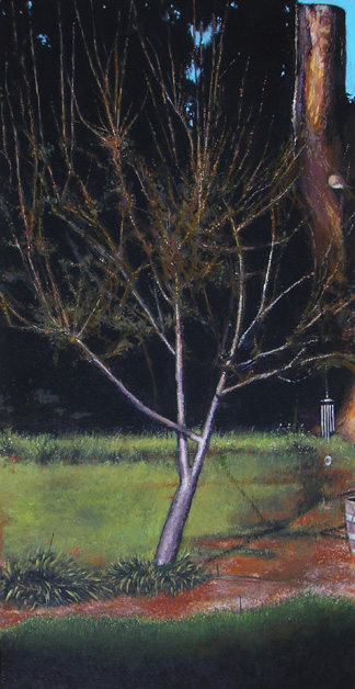 "STUMP (2008) acrylic on canvas, 15"" x 30"" $700."