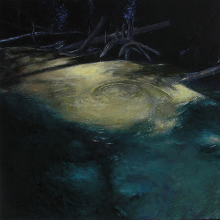 "ECONFINA A (2008) oil on canvas, 24"" x 24"" Private collection"