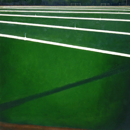 "SOD FARM (2008) oil on canvas, 24"" x 24"" Private collection"