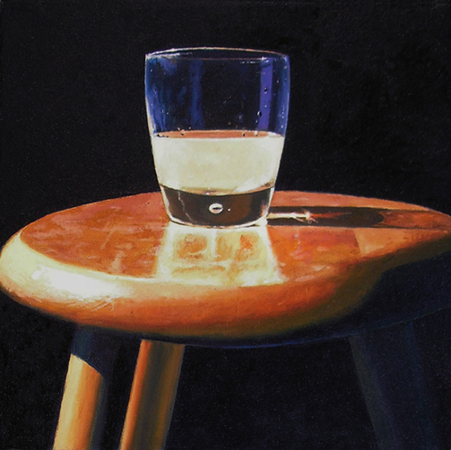 "ABSINTHE 1 (2010) oil on canvas, 12"" x 12"" inquire at  moniquearnonantiques.com"