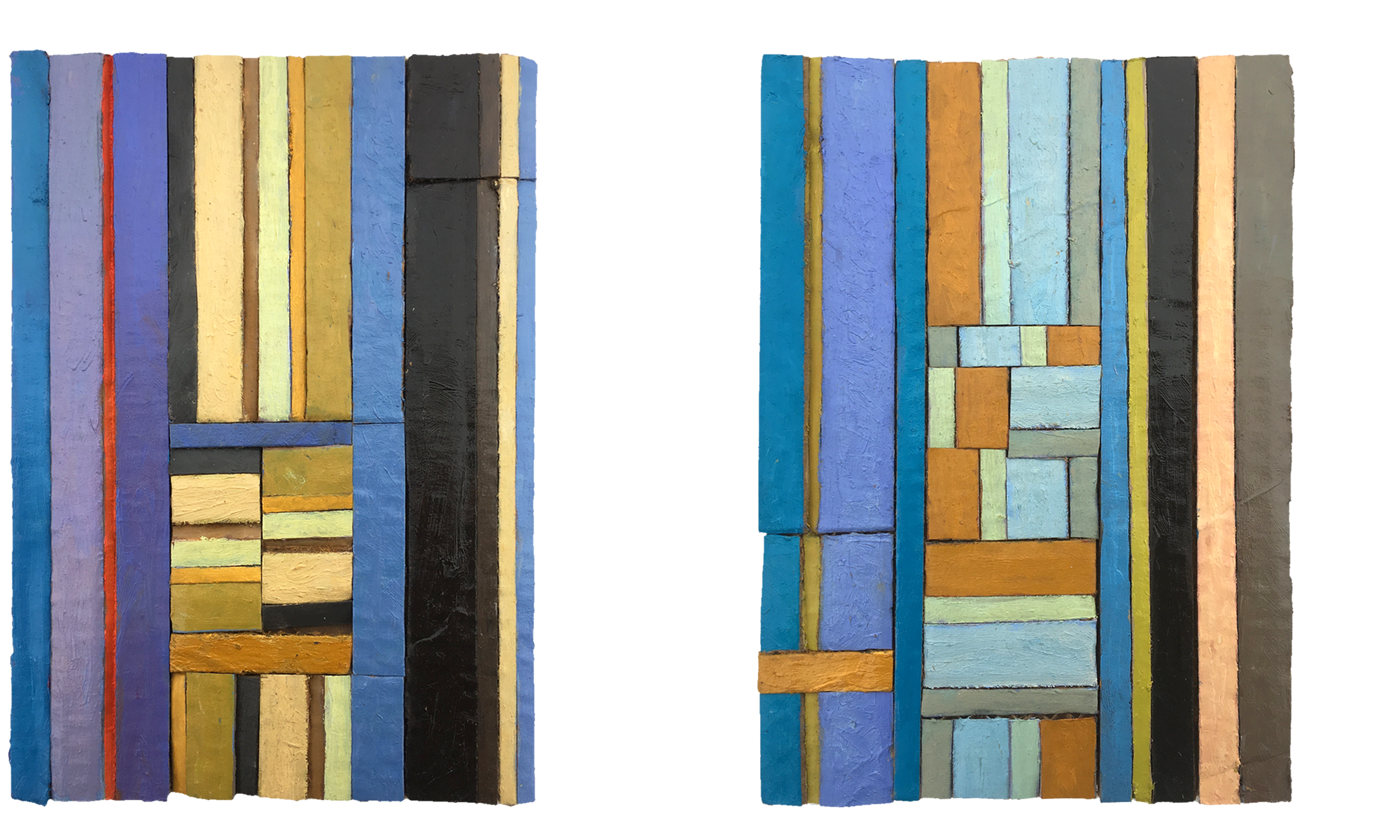 Left: BILLY PRESTON   Right: ¾ NOVEMBER Both 2018, oil on cardboard, 148 x 210mm, prviate collection.