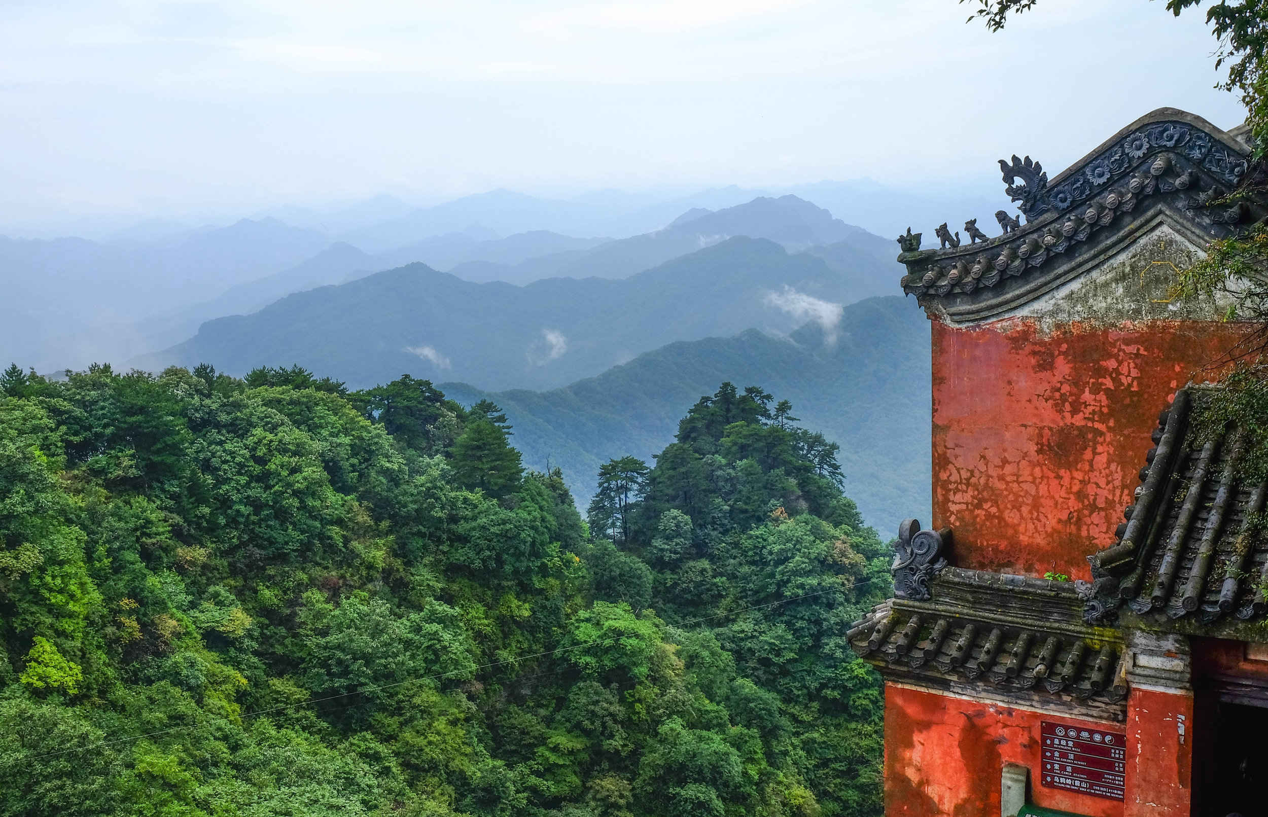 Daoist monastery at the top of Wudang mountain, Hubei, China