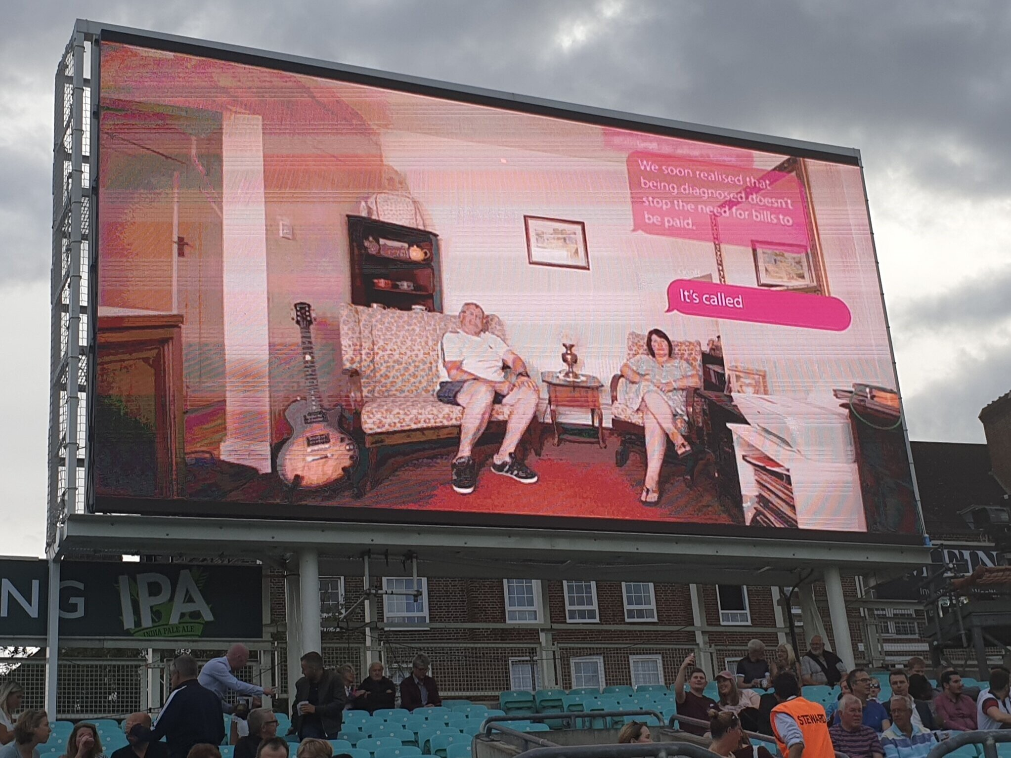 SimPal video being shown publicly for the first time at the Oval home of Surrey Cricket Club