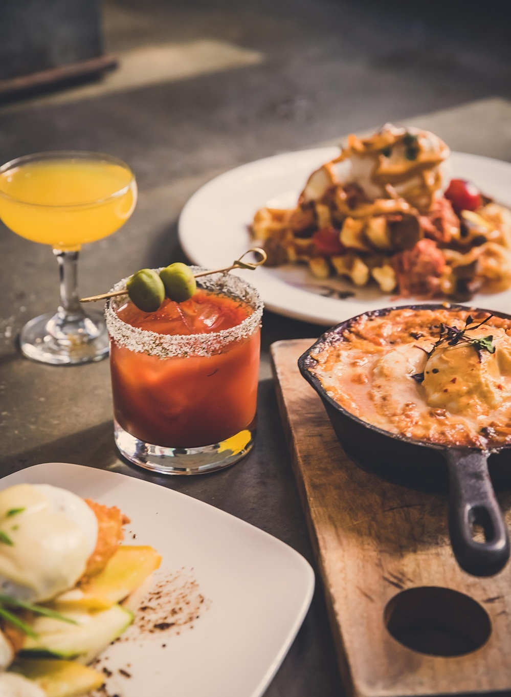 TUC CRAFT KITCHEN DEBUTS NEW BRUNCH MENU, DAYTIME HAPPY HOUR SPECIALS - February 21, 2019Comfort-food fans have a new reason to convene a meeting of the Brunch Club when Tuc Craft Kitchen introduces new brunch dishes and daytime Happy Hour drink specials at the Gastown restaurant beginning this Friday, February 22.Available Fridays from 11 a.m. to 2:30 p.m., Saturdays from 10 a.m. to 2:30 p.m. and Sundays from 10 a.m. to 3 p.m., Tuc's brunch menu offers such new additions as Tuc mex (braised lamb and black beans, two poached eggs, guajillo cream, cheddar and mozzarella cheese), waffles & pig (waffles, braised pork shoulder, two poached eggs, harissa mayo, mushroom escabeche, blistered tomatoes) and green bean & debris (two sunny eggs, red chili green beans, ground pork, potato hay).