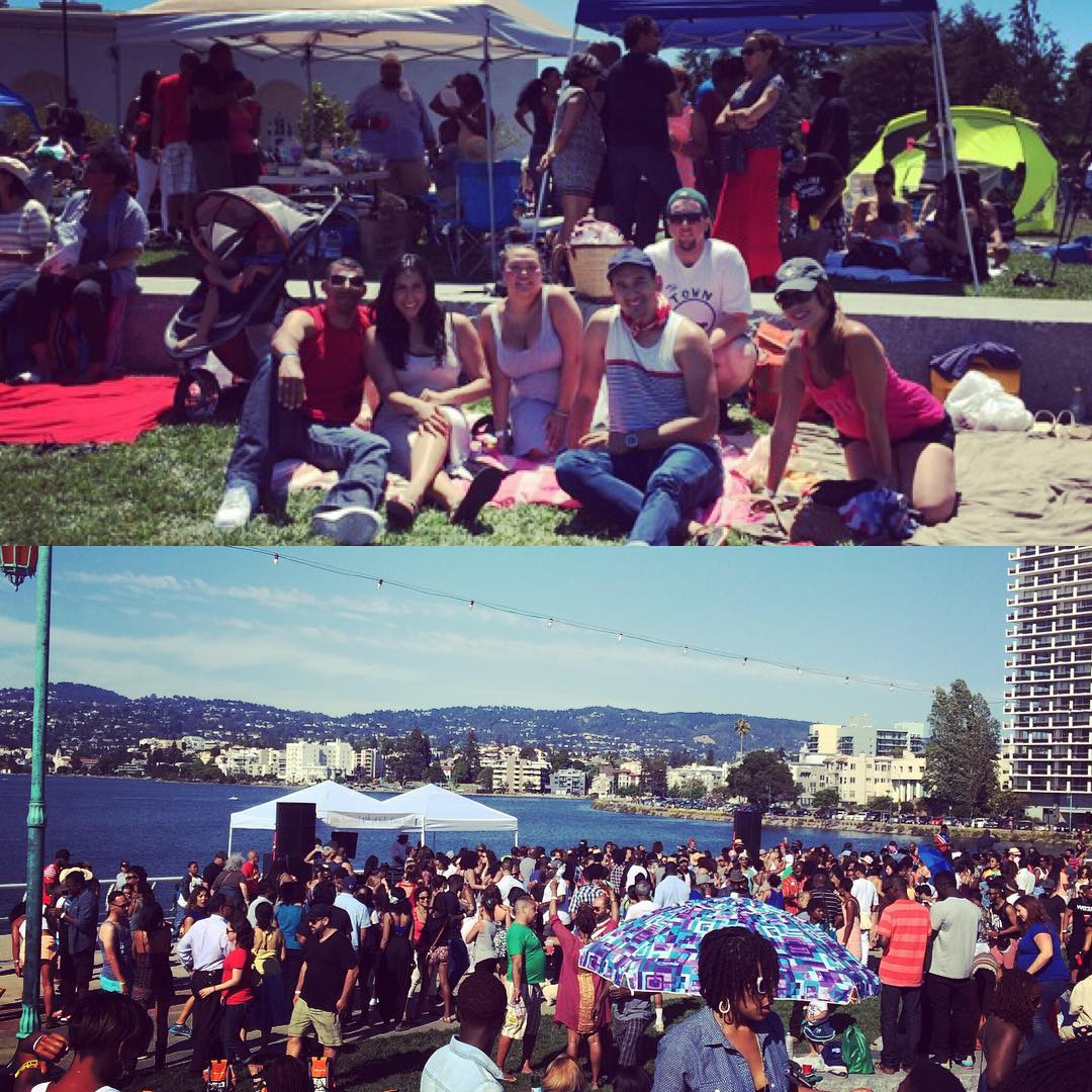 The 4th with great company! 😎 #oakland #lakemerritt #community #murica