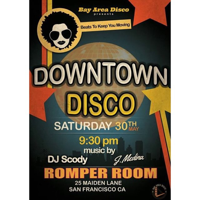 We're back with our Downtown Disco series! Join us for some dope #disco #funk #soul #discohouse #italodisco #frenchhouse #classichouse #nudisco Let's start the summer season off right. #downtowndisco #beatstokeepyoumoving #DJ #sfnightlife #bayarea #SF #Oakland #dance