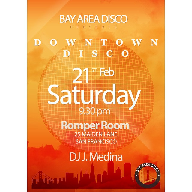 Happy Monday! This Saturday we'll be partying it up at Romper Room in Union Square from 9:30 till close. No cover! Let's all get down! #downtownsf #unionsquare #bayarea #sf #disco #discohouse #nudisco #beats #housemusic