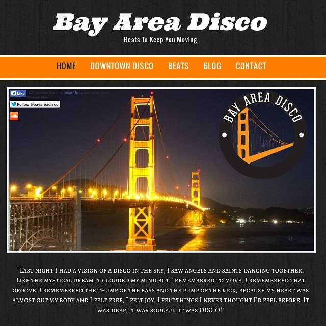 """The site is updated to include this Saturday night's """"Downtown Disco"""" party at DaDa and also has July's mix up as well! #disco #house #bayarea #sanfrancisco #oakland #sanjose"""