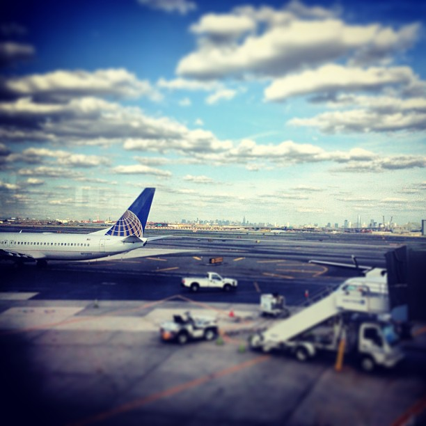 It's never easy leaving family and friends back east. Thanks for all the love you always give! Miss y'all #freedomtower #united #newarkairport