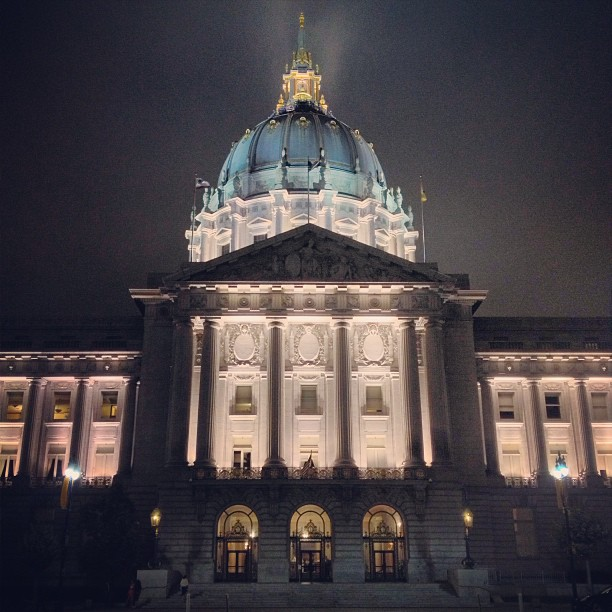 Chilly night in SF! #cityhall