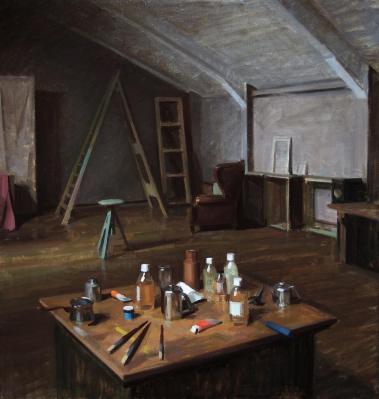 Studio , 2010 oil on canvas 95 x 90 cm
