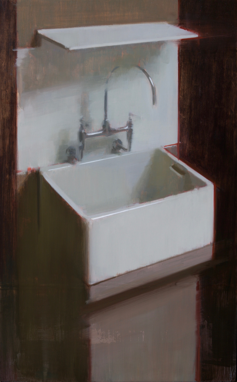 Sink III , 2017 oil on wood 82 x 51 cm