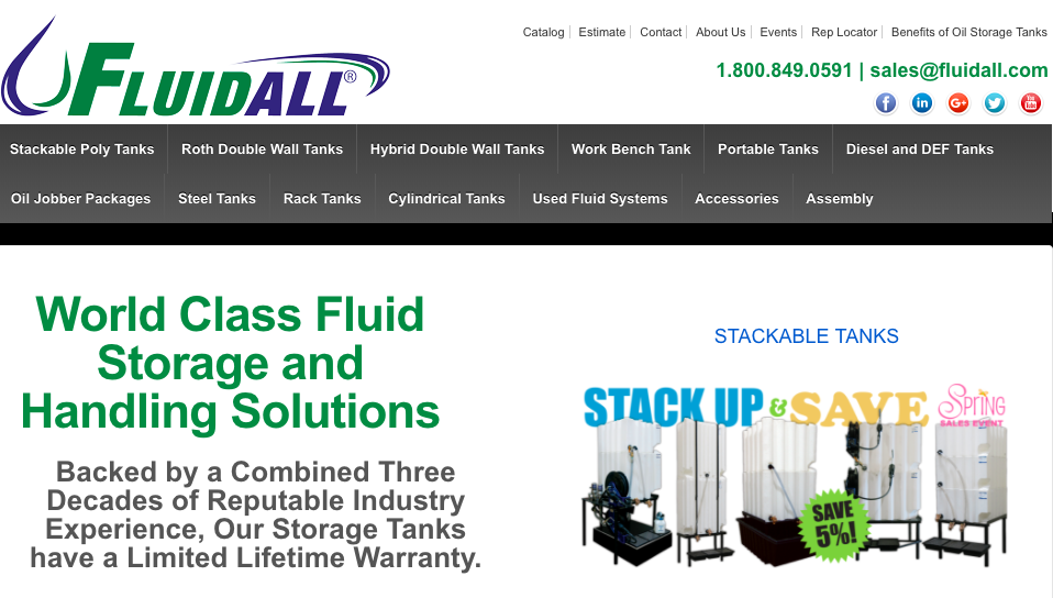 Fluidall Fluid Storage and Handling Systems