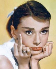 Audrey Hepburn Middle Finger