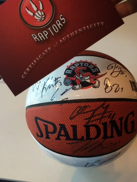 One of the Prizes from the KATIYA x Scoops for a cause Charity with the Toronto Raptors
