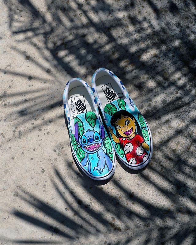 Any Lilo & Stitch fans out there? 🌺 custom kicks by me, #taylorreeve •• TaylorReeve.com •• #ohana #liloandstitch