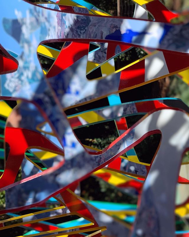 When we photograph the Ambrosia sculptures there are so many surfaces to focus on, and reflections happening, that the camera is constantly trying to decide and figure out what plane it's on.  The end result is an interesting image.  The same thing happens with the human eye, which traverses the layers back and forth.  Viewing an Ambrosia is delightfully disorienting, in a way, because your visual perception is taken on a journey.  Also it's a departure from the we go through the world with a kind of visual certainty.