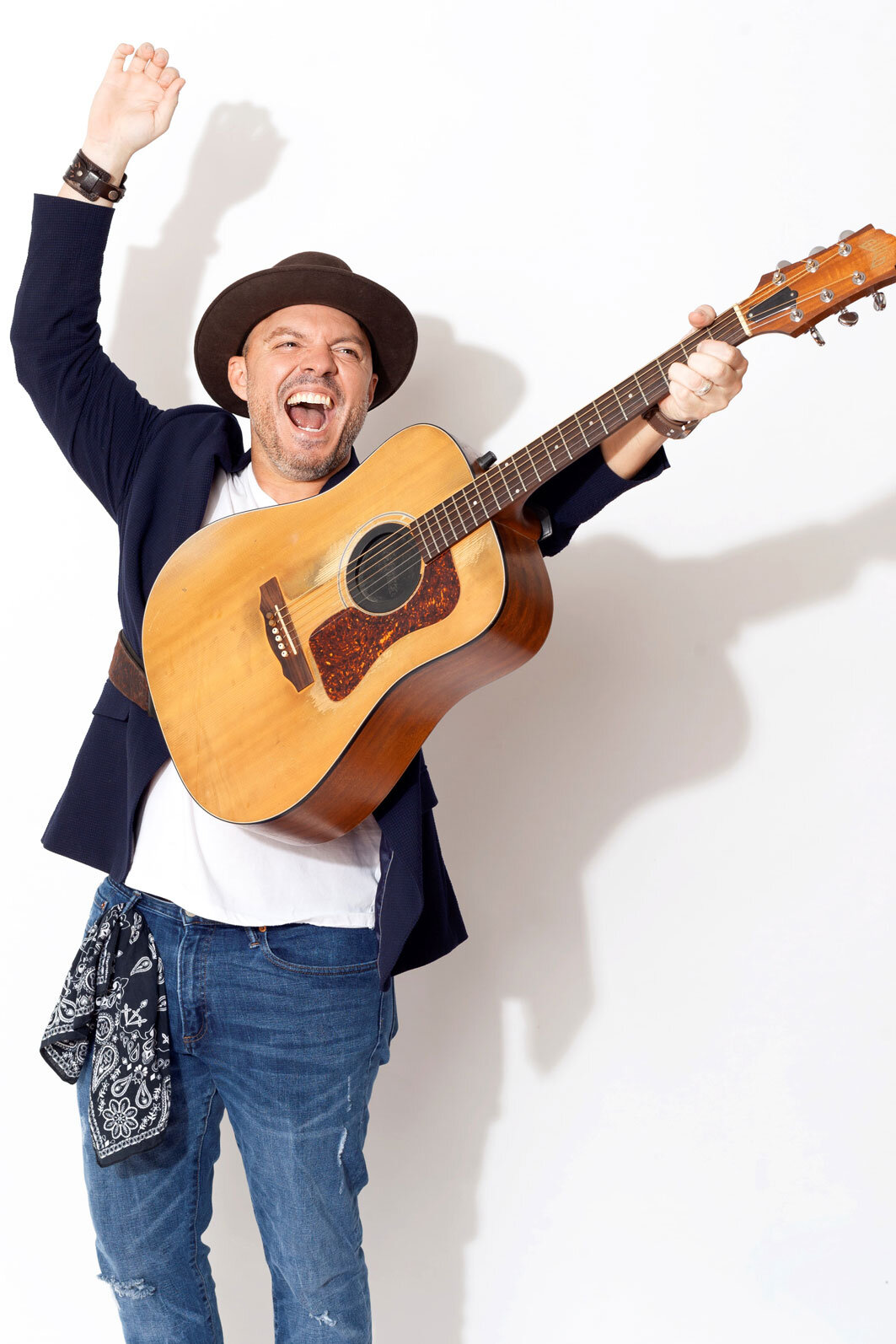 Mark Monaco, lead singer of Monaco and the Strayhearts