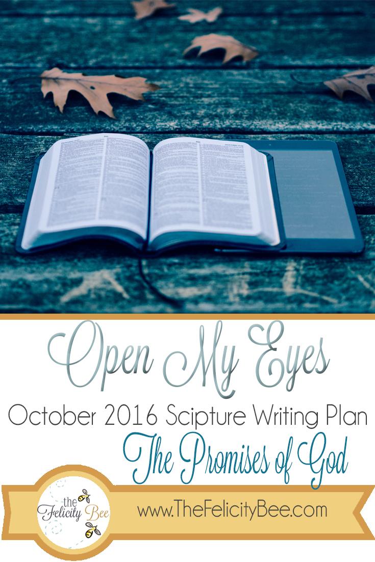 October 2016 Scripture Writing Bible Study