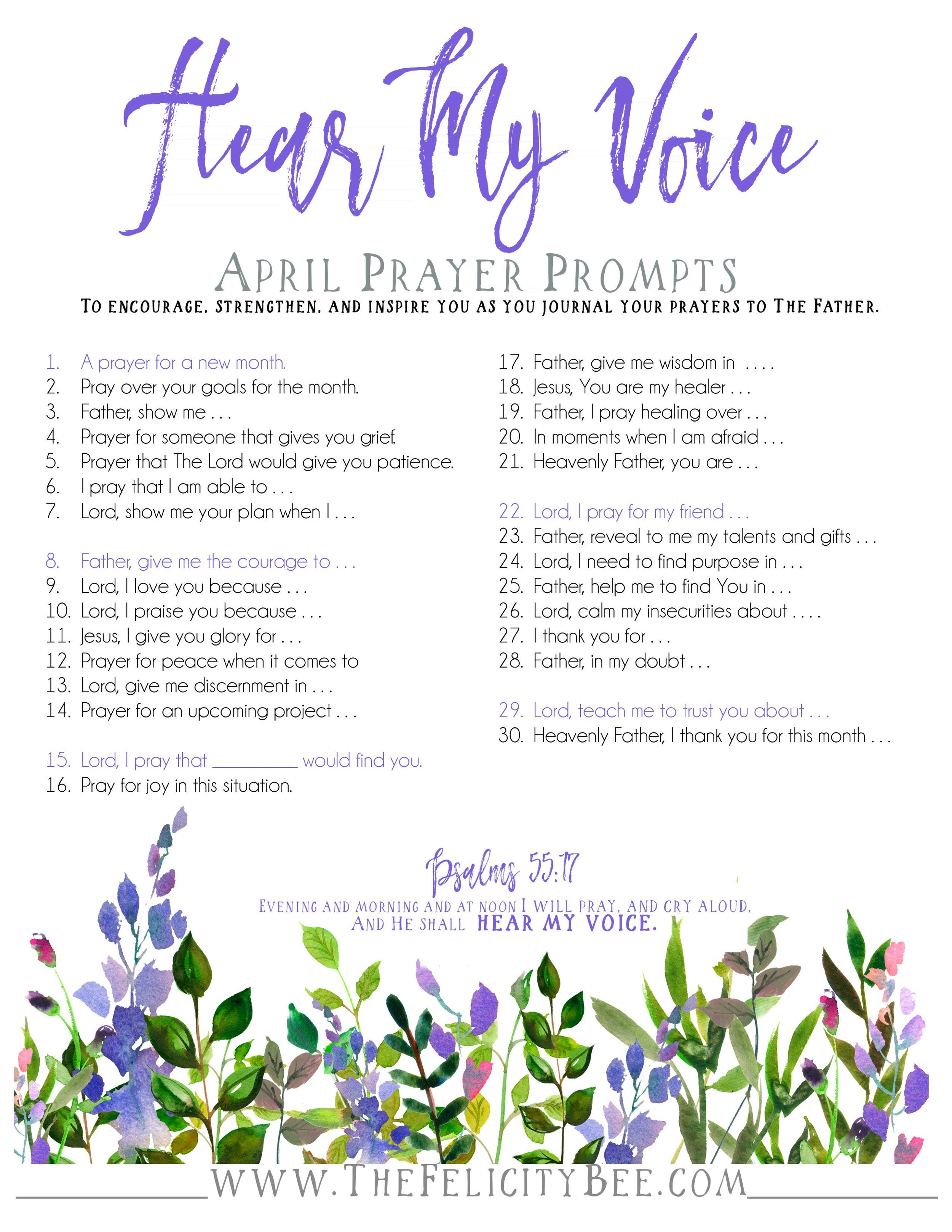 To download your prayer prompts,  CLICK HERE .