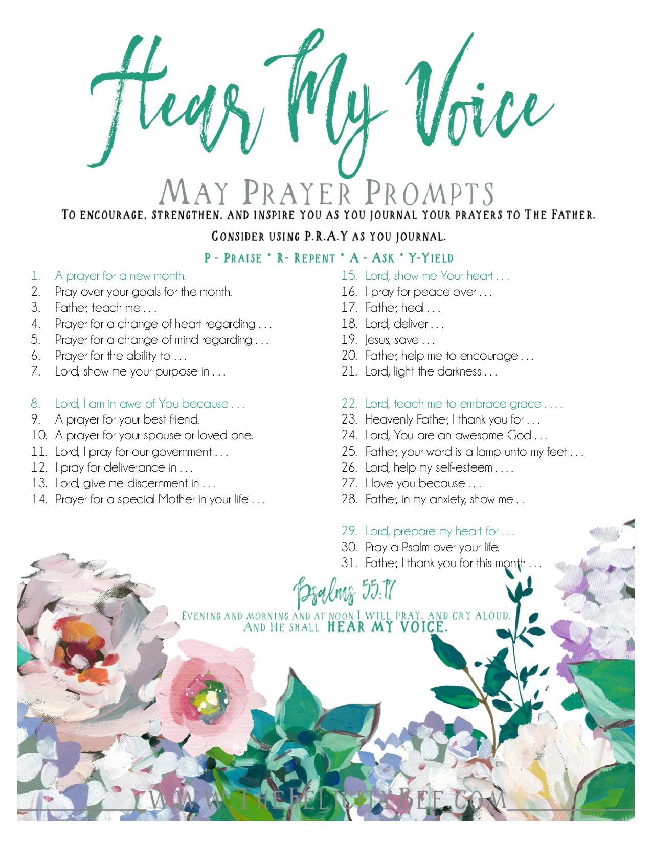 To download your MAY Prayer Prompts,