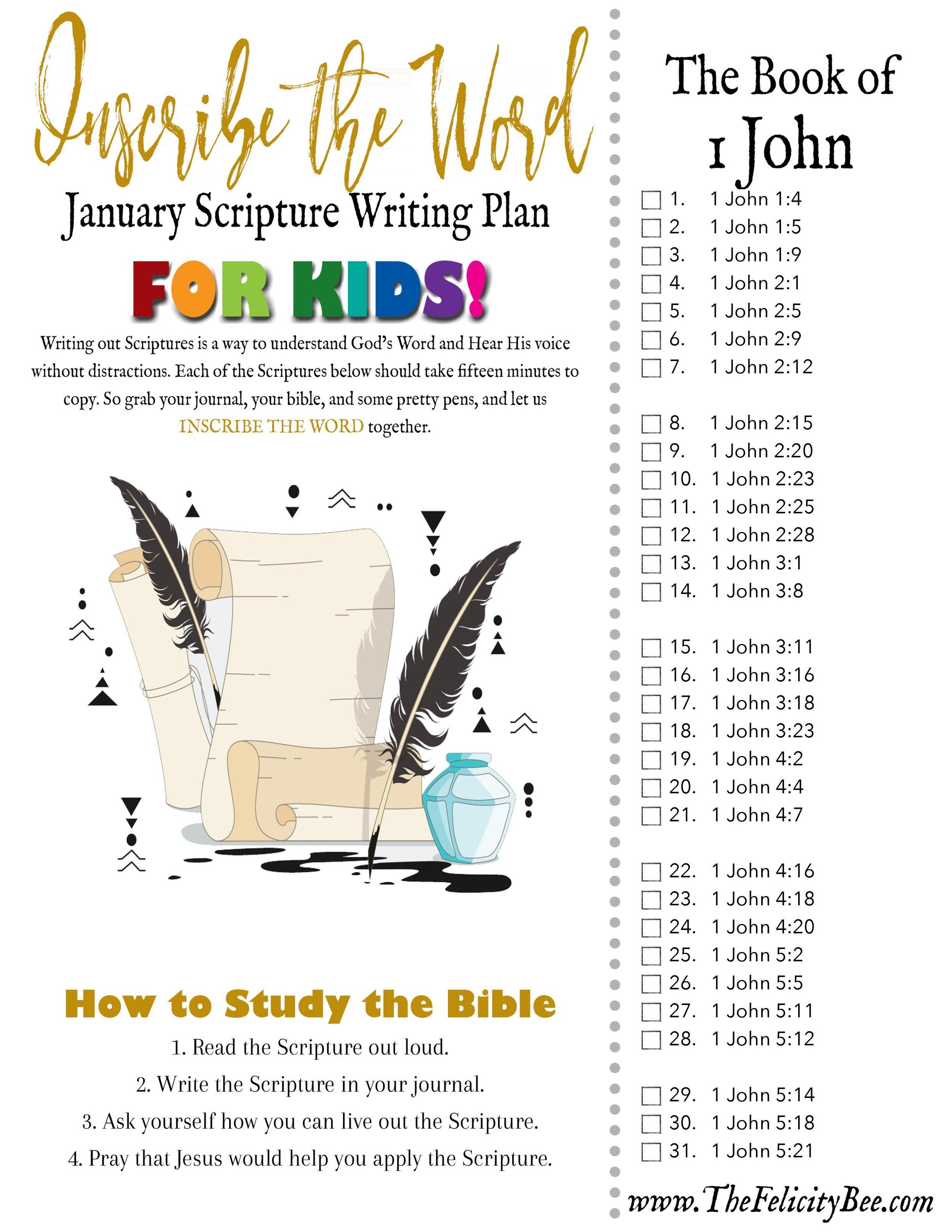 scripture writing challenge 2019