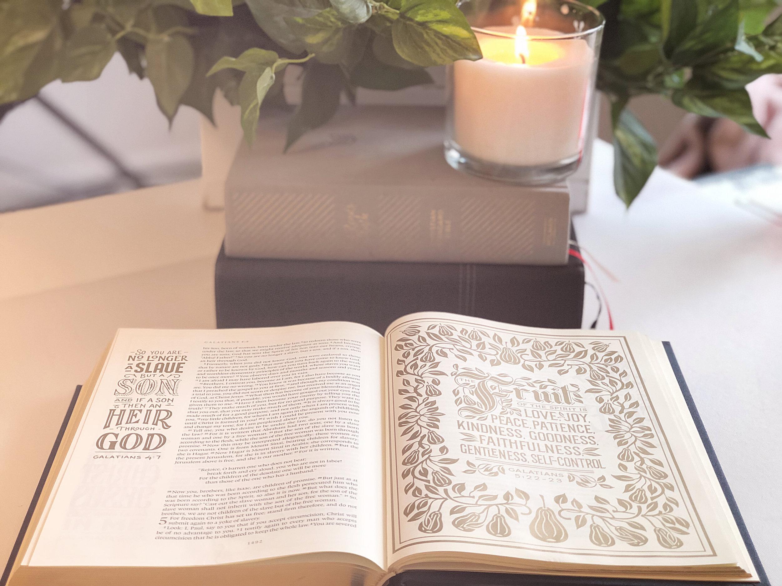 The ESV ILluminated BIBLE.