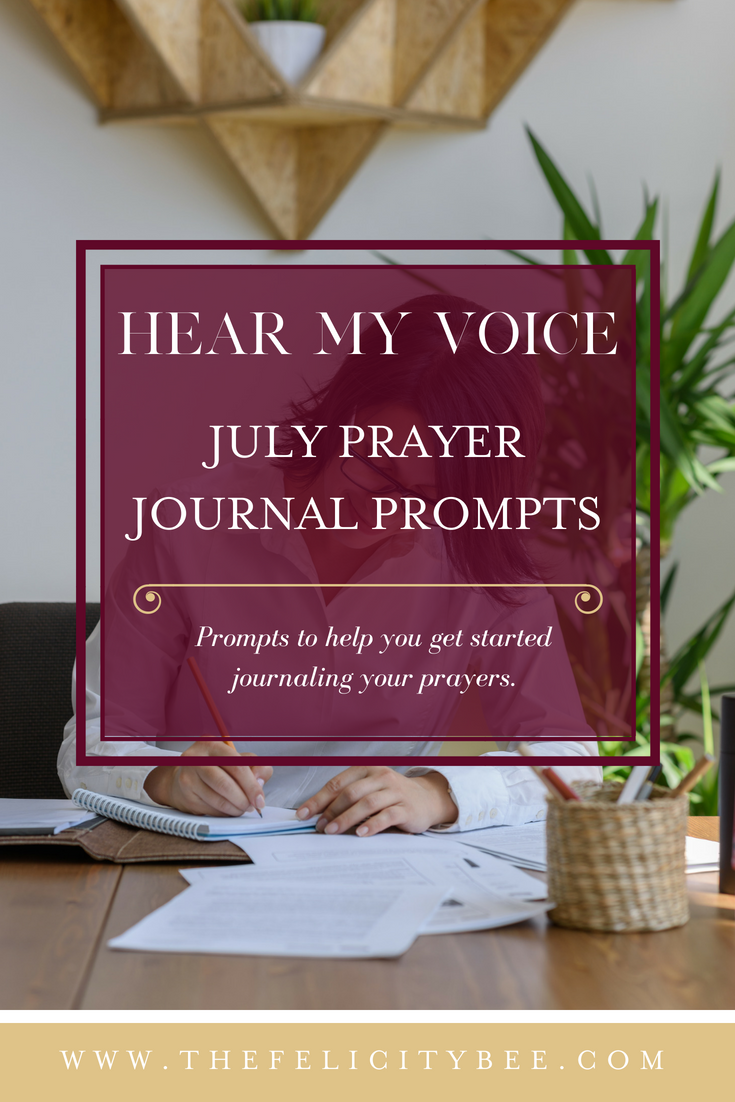 Hear My Voice Prayer Journaling Prompts to get you started journaling your prayers.