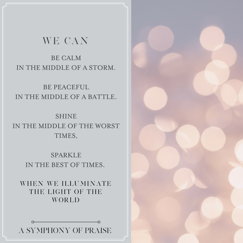 With Jesus, we can live a life that sparkles from the inside - out!