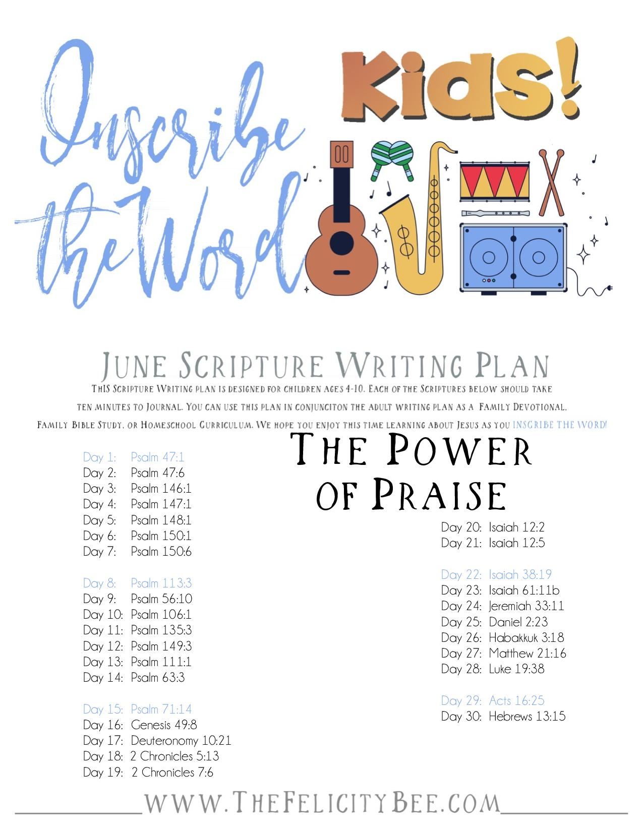CLICK HERE  to download your KIDS Power of Praise Plan.