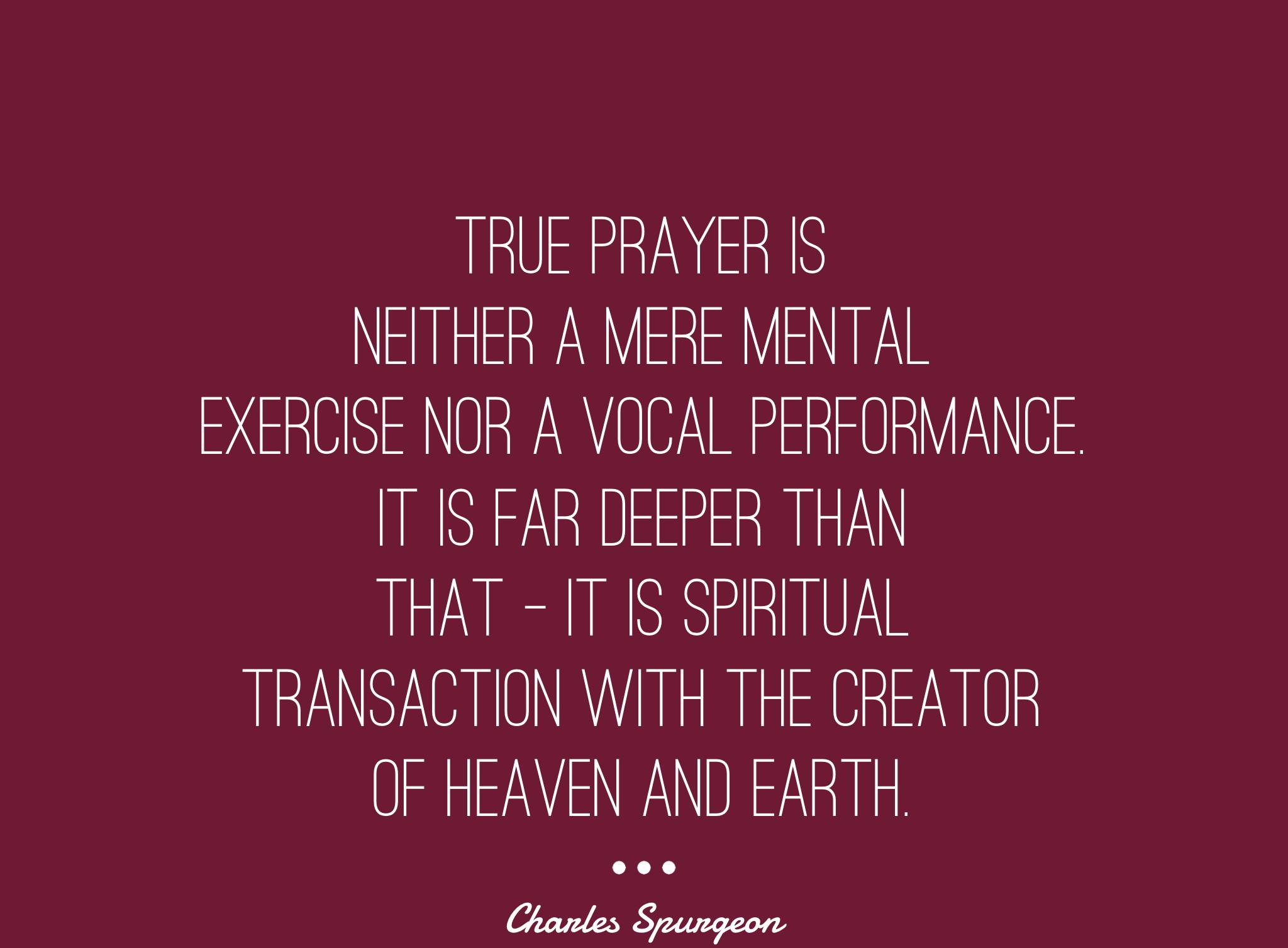 Prayer-Charles-Spurgeon