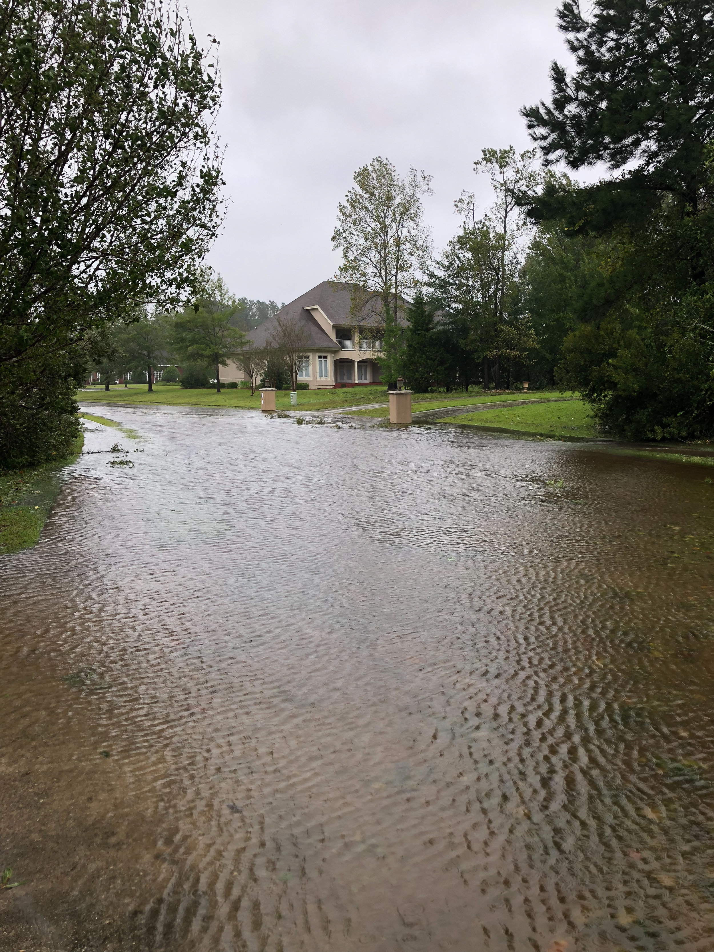 Flooding down our block during the storm. Thank the Lord it subsided, we know many whose homes are under water.