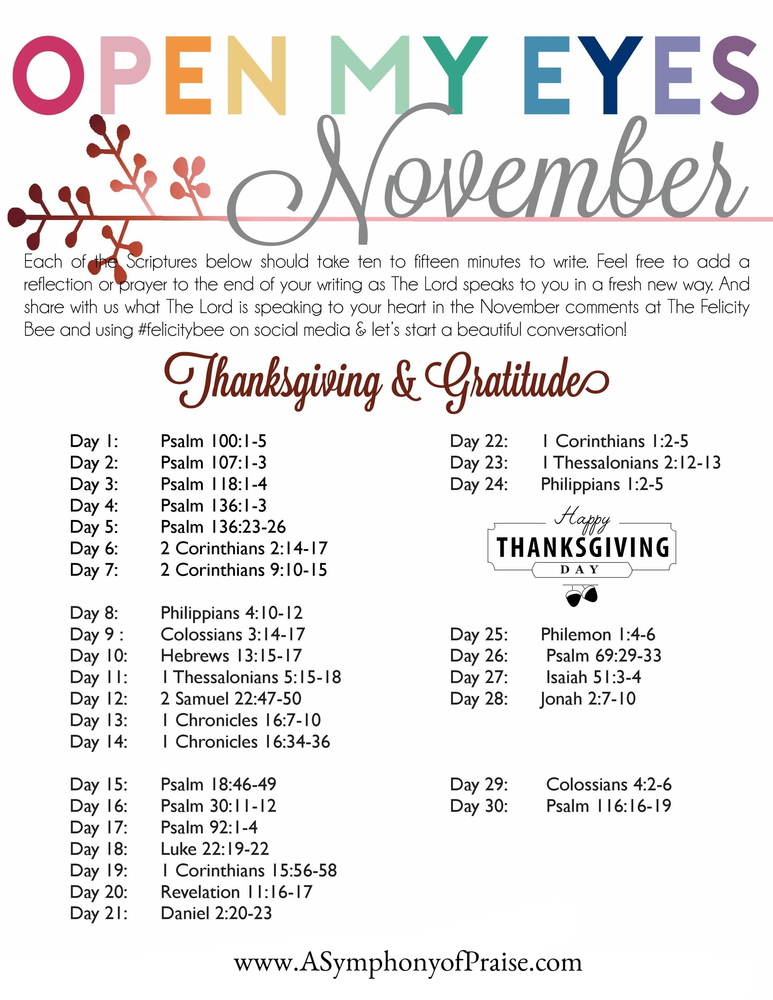 CLICK HERE  to download your November Scripture Writing Plan.