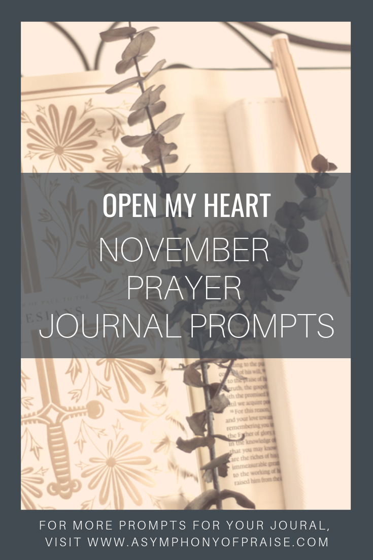 November's prayer journal prompts are here. These prayer journal prompts are the perfect way to start journaling your prayers.
