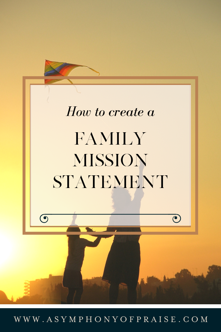 Discover The Family Mission Statement. This resource will help you and your family to create a purpose statement. A Family Mission Statement is a wonderful way to chart where you are going, and to create a strong family together. Plus download our FREE WORKBOOK.