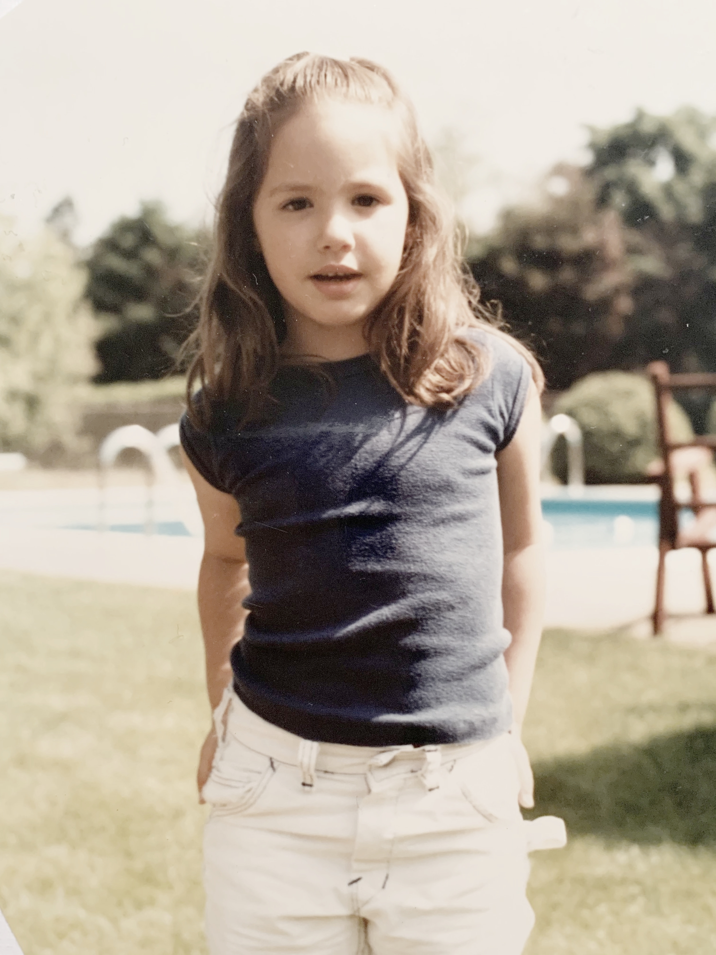 I was five-years-old in this picture rocking my white jeans. I thought I was fat and prayed that God would make me thin while I was sleeping.