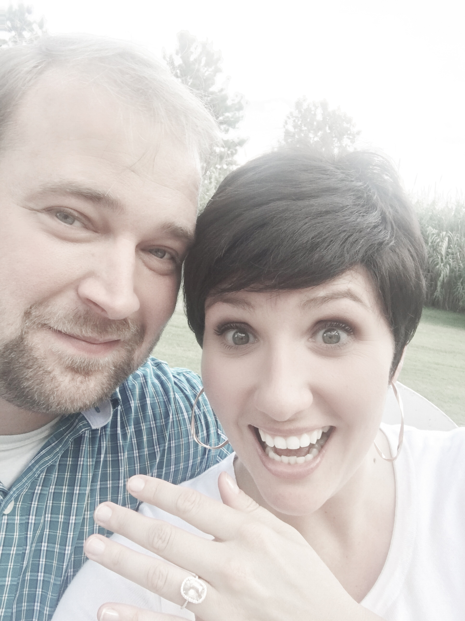 Steven and I on our engagement. It was a perfect day in the most beautiful place. Such joy and excitement!