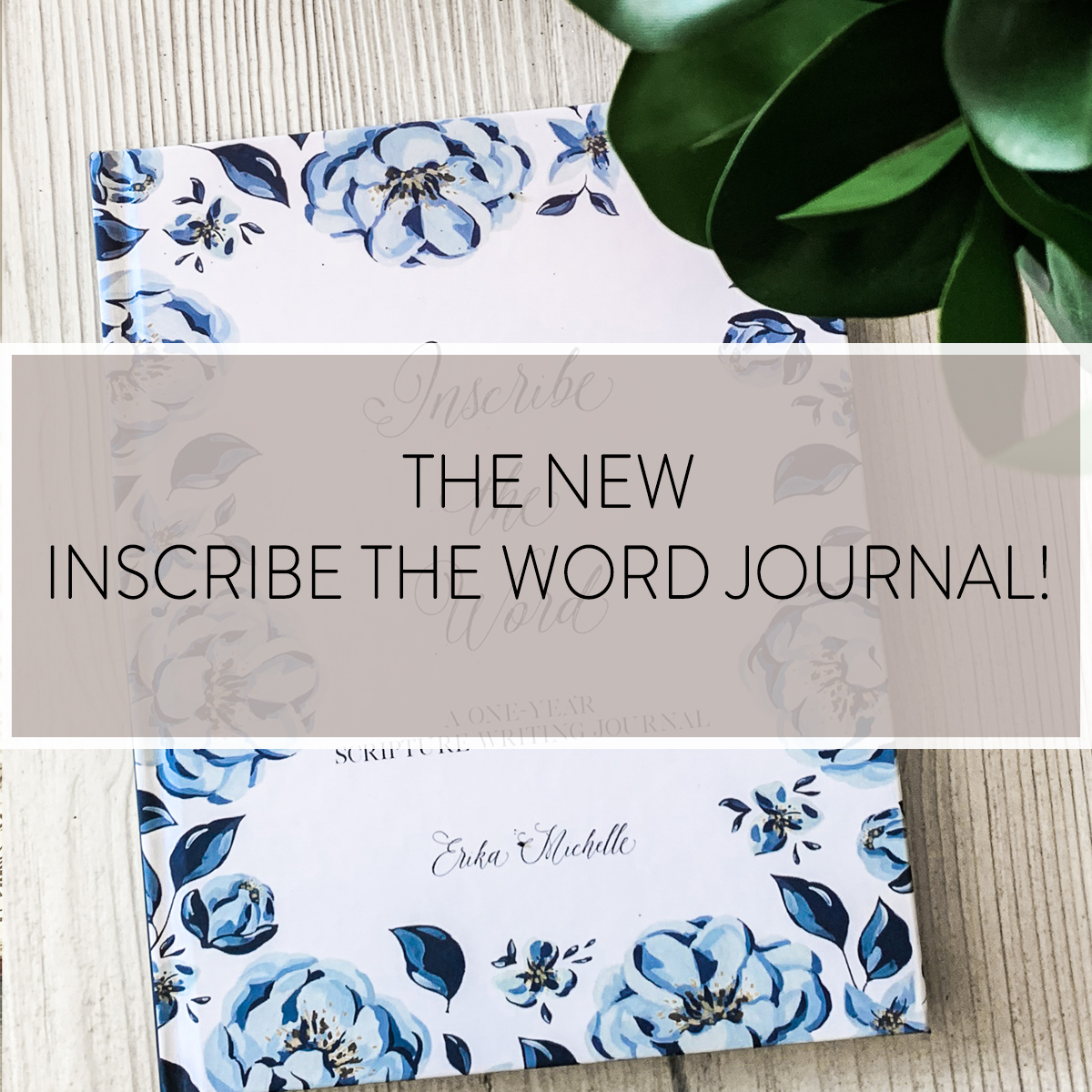 Our INSCRIBE THE WORD JOURNAL is an excellent resource to inscribe a year's worth of Scripture. This undated journal is a beautiful companion to your Bible Study.