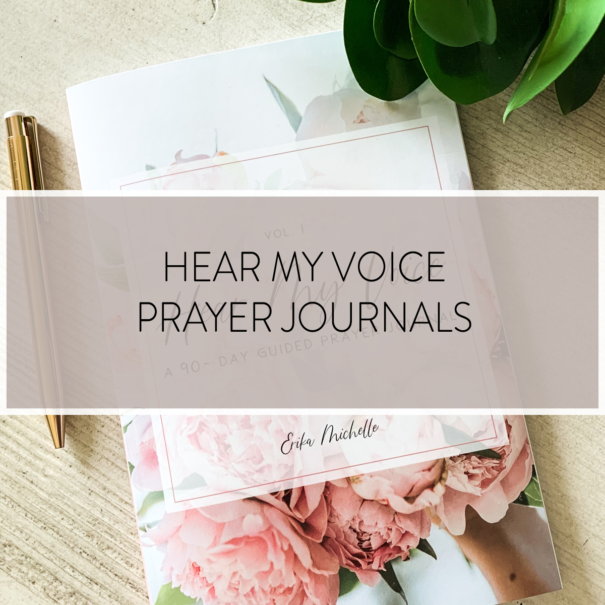 The NEW Hear My Voice prayer journals guide you through 90 days of prayer. Each day gives you a prompt to get started and space to write how and when God answered your prayer.