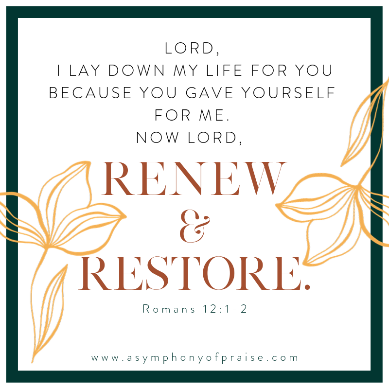 Romans 12:1-2 tells us to not be conformed to this world but to renew our minds. How do we do that? Is there a ten step process to renewing our minds and what are the benefits to renewing the mind. Join me for this Bible study on Romans 12:1-2 and lets learn to renew our minds to line up with the Word of God.