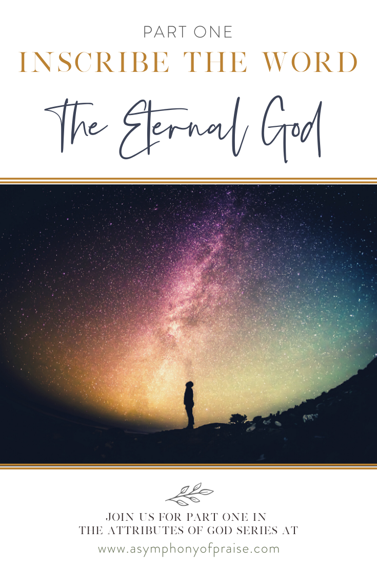 inscribe the word the eternal god symphony of praise
