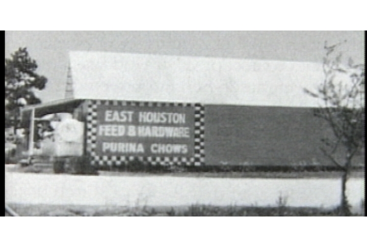 The original Lakewood Church that started out in a feed store.